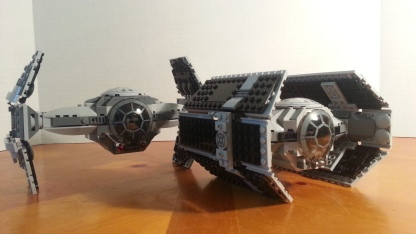 The prototype advanced and Vader's TIE advanced