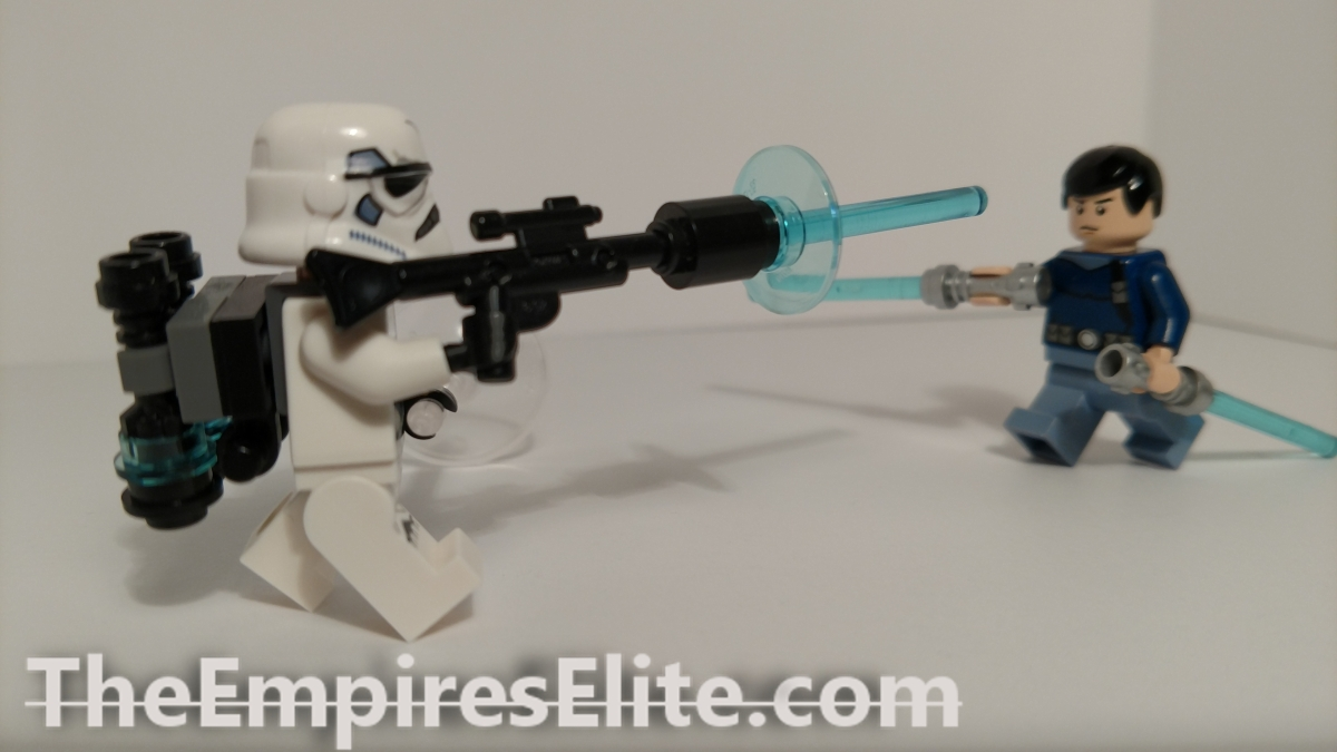 Custom Lego Minifigures: Starkiller (Light Side) and EVO Trooper