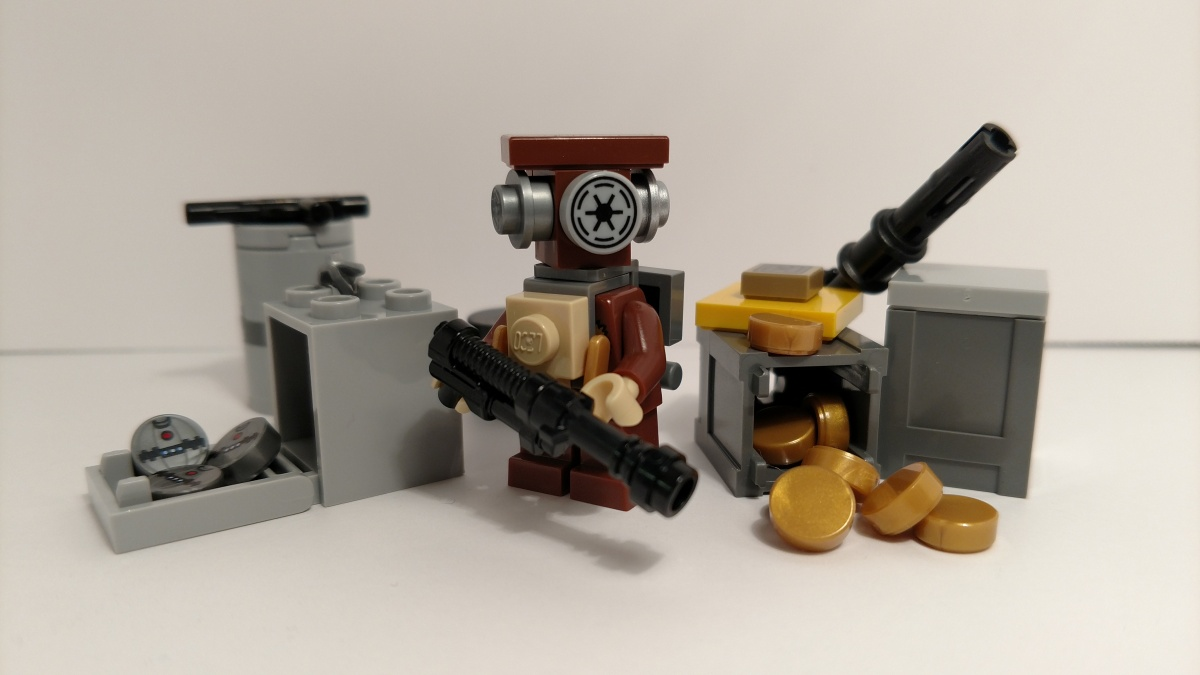 The Gand with the Plan: Lego Zuckuss (PuristCustom)